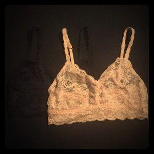 2- Cosabella Lace Bralettes